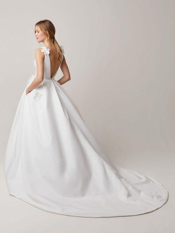 abiti da sposa in taffetà