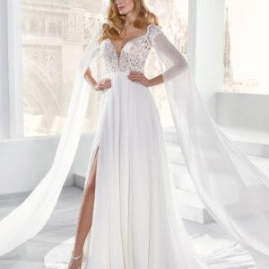 abiti da sposa in chiffon