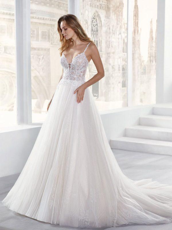 abiti da sposa in glitter tulle