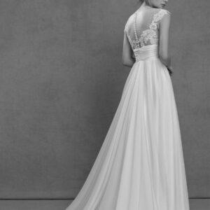 abiti da sposa in voile di seta