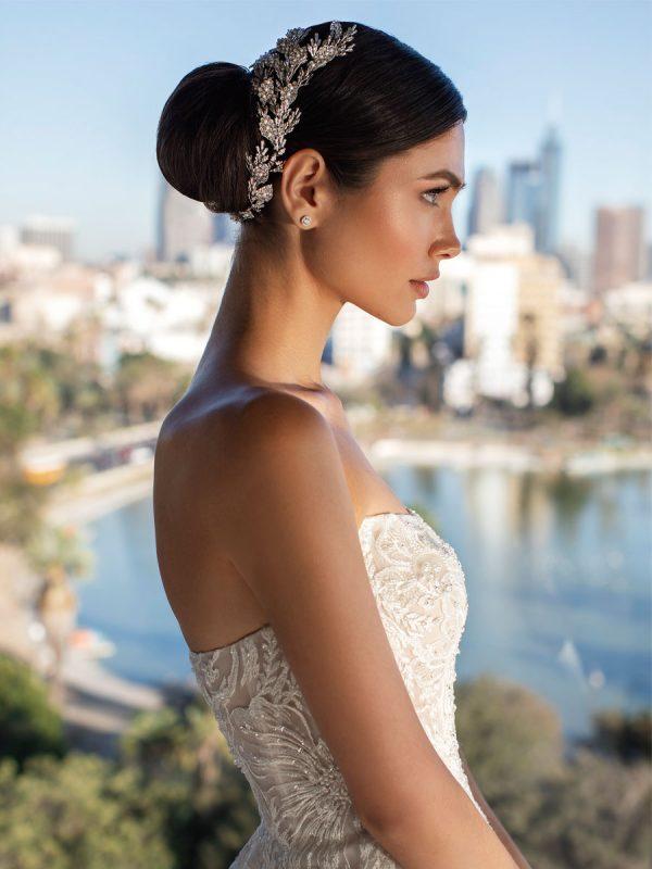 abito da sposa senza spalline