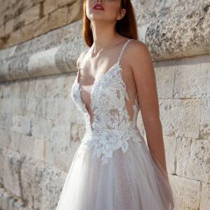 abiti da sposa corpino macramè